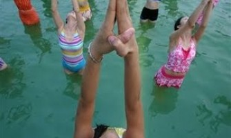 Workshop de Acqua Yoga no Gerar, com Horivaldo Gomes