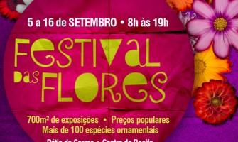 Festival das Flores, de 5 a 16 de setembro, no Recife