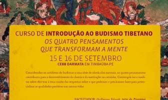 Curso de Introdução ao Budismo Tibetano, dias 15 e 16 de setembro, no CEBB Darmata