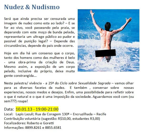 Convite nudez & nudismo