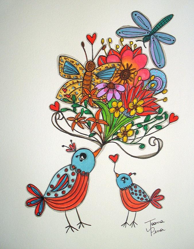 cantando flores