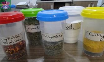 Ideias para reutilizar potes de requeijão