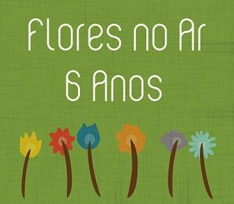 flores no ar