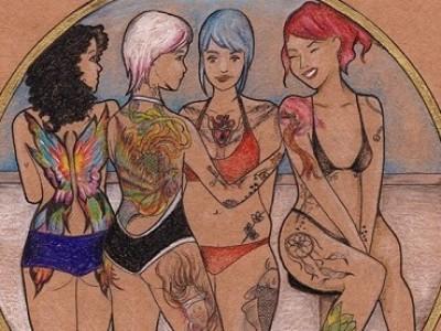 Ilustrações e pequenas histórias incentivam as mulheres a serem quem são
