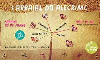 Neste sábado tem Arraial no Jardim Alecrim!