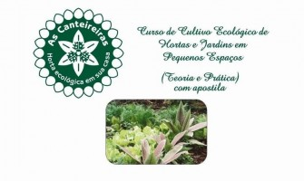 Mini-curso 'Cultivo Ecológico de Hortas e Jardins em Pequenos Espaços' dia 13/9