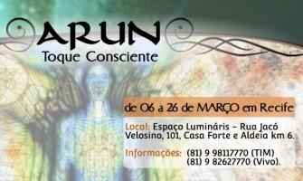 Atendimentos com 'Arun – Toque Consciente' até 26/3 no Luminaris
