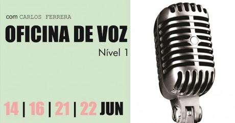 OFICINA DE VOZ COM CARLOS FERRERA A PARTIR DE 14 DE JUNHO NO RECIFE