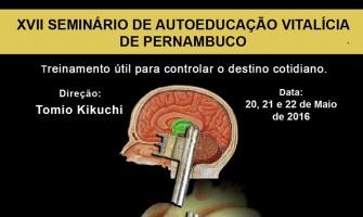 PROFESSOR TOMIO KIKUCHI REALIZARÁ SEMINÁRIO EM PERNAMBUCO NESTE MÊS DE MAIO