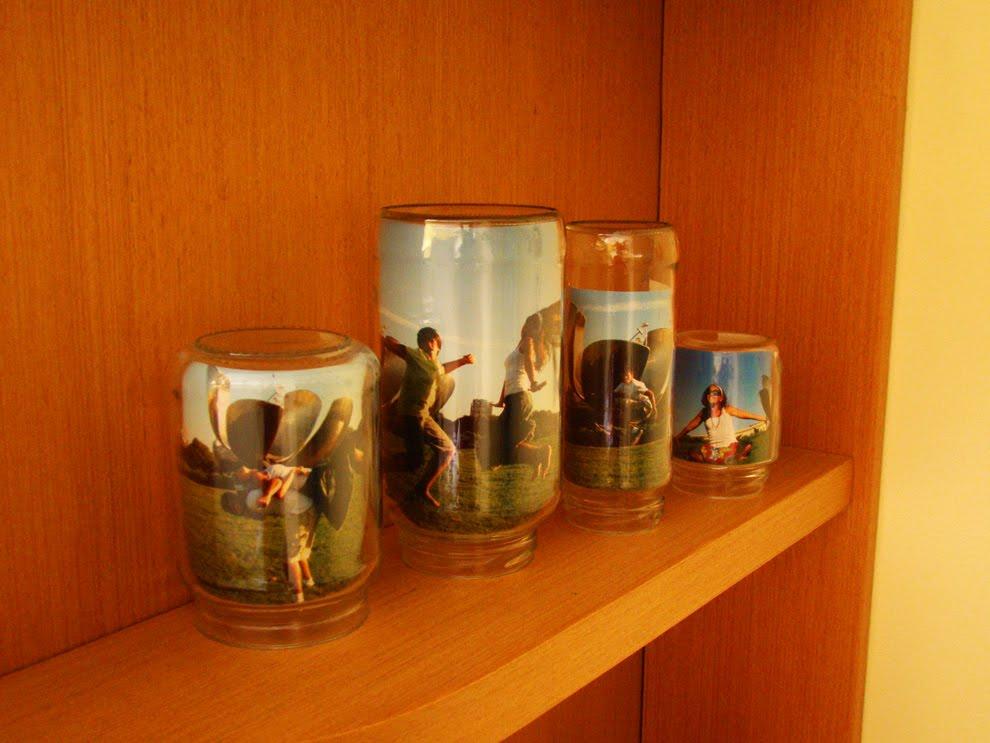 fotos em potes de vidro