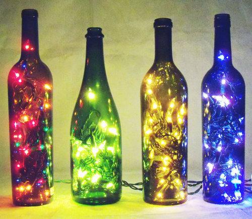 luminaria garrafa