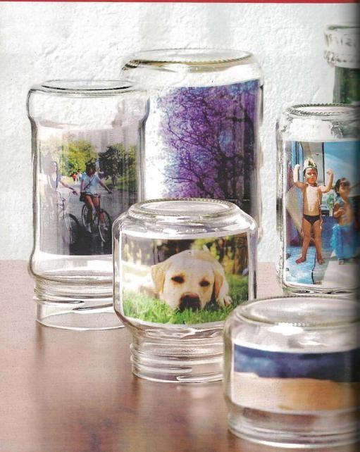 porta retrato com copos vidro