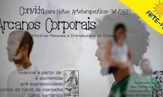 [AGENDA PE] Oficina 'Arcanos Corporais' dia 14/9 na Noite Arteterapêutica