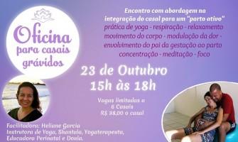 [AGENDA PE] Oficina para Casais Grávidos dia 23/10 no Garuda Yoga