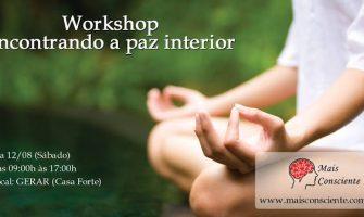 [AGENDA PE] Workshop 'Encontrando a paz interior', dia 12/8, com Felipe Lapa