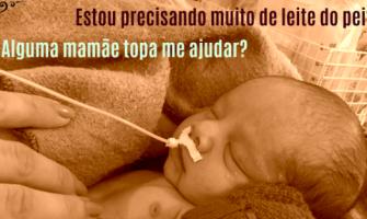 Bebê precisa de doação de leite materno no Recife