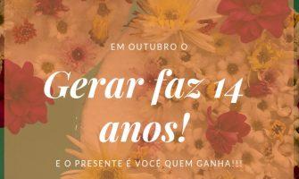 [AGENDA PE] Gerar comemora aniversário oferecendo atendimentos solidários, de 24 a 30/10