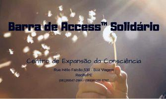 [AGENDA PE] Atendimento solidário com Barra de Access™, em julho, no Centro de Expansão da Consciência