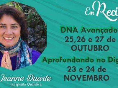 [AGENDA PE] Cursos de ThetaHealing® Avançado e Digging, com Jeanne Duarte, no Recife
