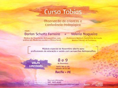 [AGENDA PE] Curso Tobias – Observação de Crianças e Conferência Pedagógica, dias 8 e 9/11