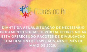 [Notícias] Portal Flores no Ar oferece descontos em divulgações no mês de maio