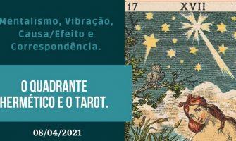 [AGENDA] Workshop on-line 'O Quadrante Hermético e o Tarot', dia 8/4, com Moisés Barreto