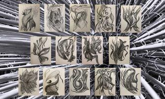 [GALERIA] 'Quimeras', série de desenhos da artista Manuella Paz